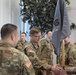 LTG Fogarty talks to Task Force Echo Soldiers before the TOA ceremony