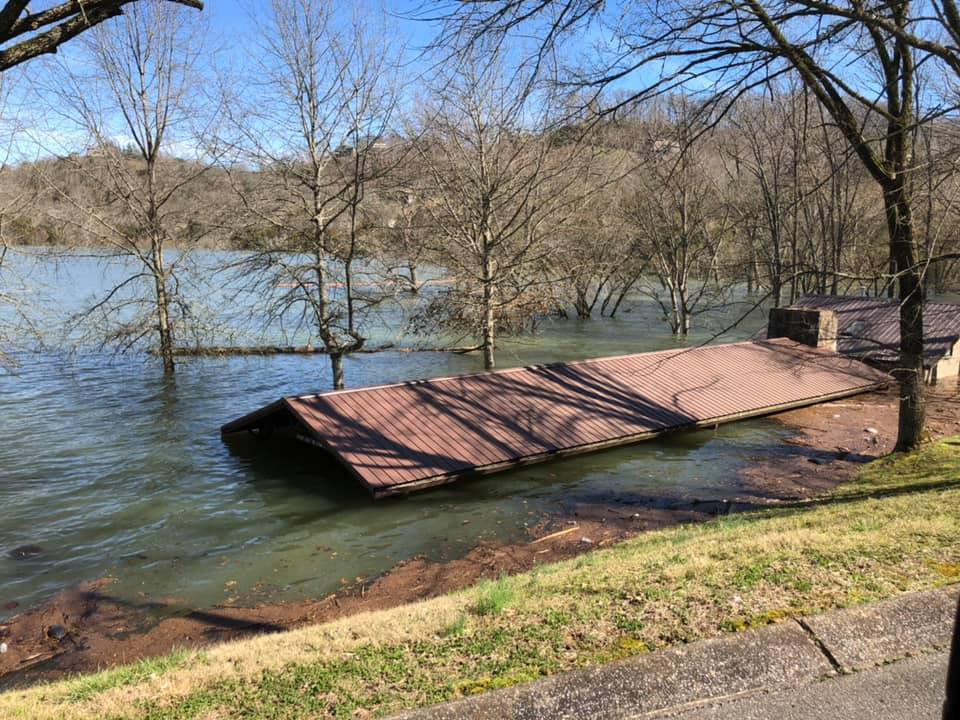 Recreation facilities receive damage assessments as waters recede