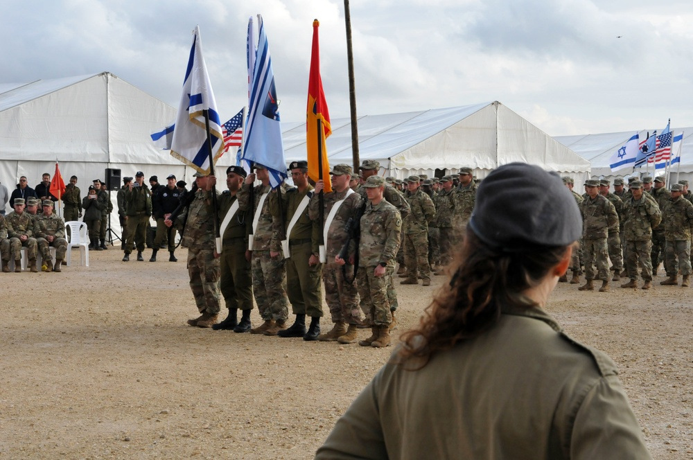 THAAD deployment to Israel closing ceremony