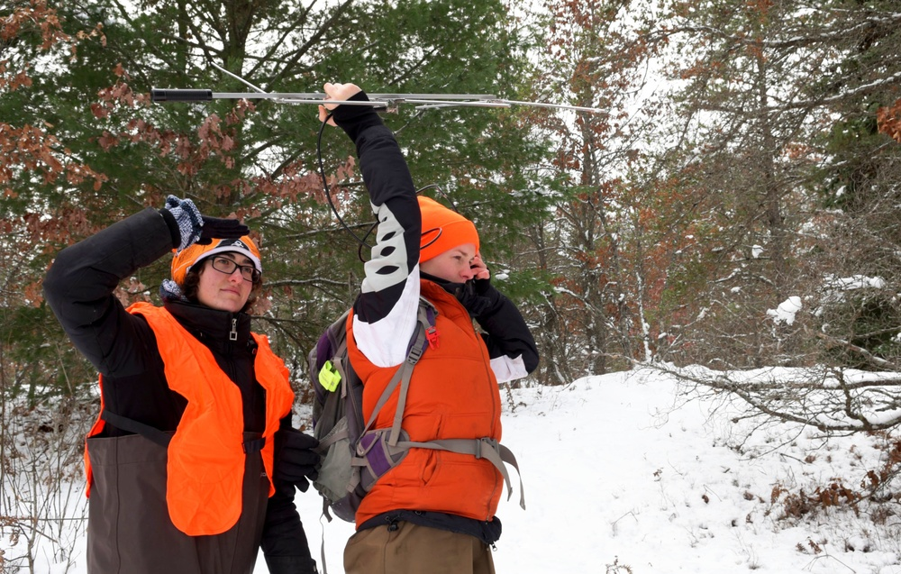 Graduate students seek out turtles hiding beneath Grayling snow and ice