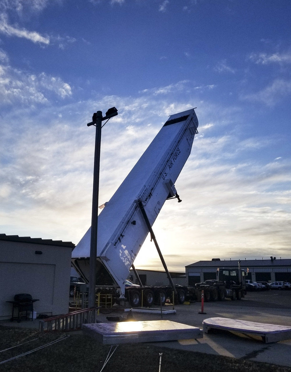 Rise & Shine: Team Minot Airmen test ICBM loading system