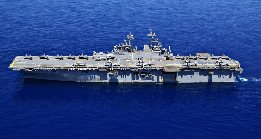 USS WASP (LHD 1) OPERATIONS AT SEA