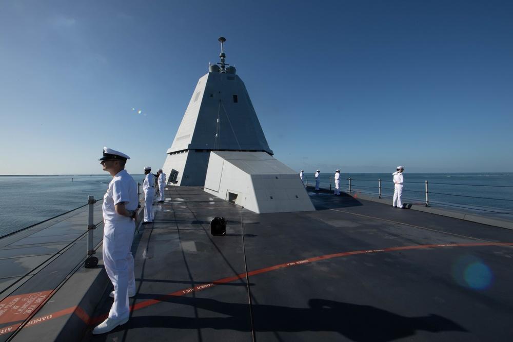 USS Zumwalt Arrives in Pearl Harbor