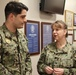 HM1 Kasey Norman, Leading Petty Officer of the Emergency Department, is meritoriously promoted by Commanding Officer, Captain Cynthia Judy