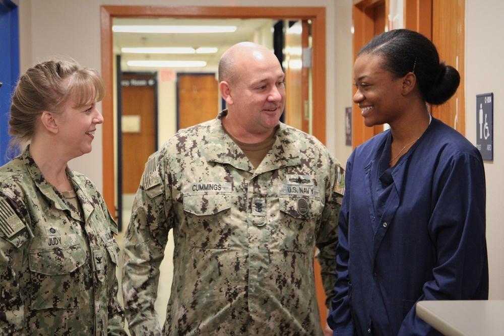 HM3 Daniella Spence Receives Meritorious Promotion at Naval Hospital Rota