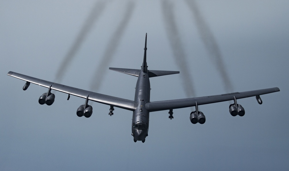 Qatari Mirages fly with U.S. B-52H and F-35As