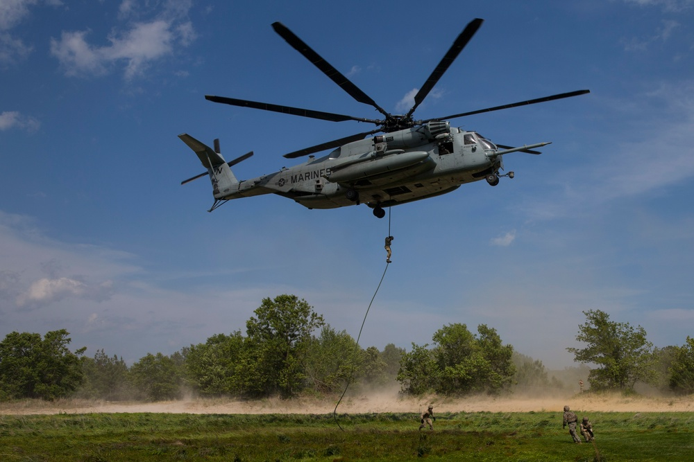 2nd ANGLICO conducts fast rope training during Burmese Chase with NATO allies