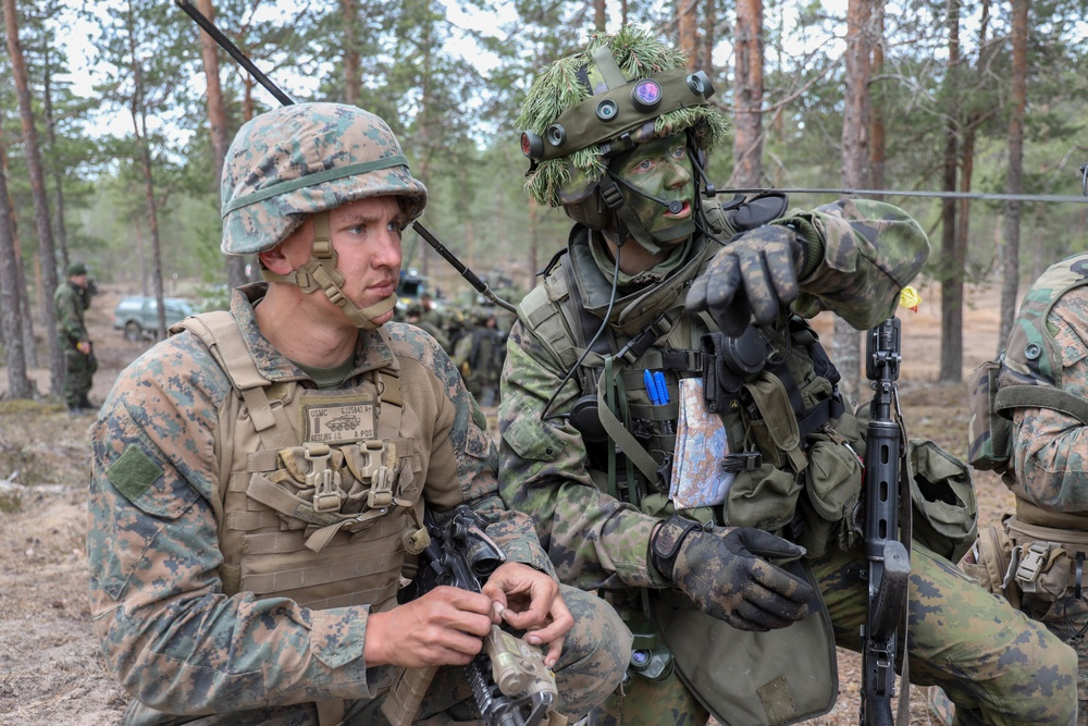 2nd Light Armored Reconnaissance Force-on-Force Training with Finnish Army during Arrow 19