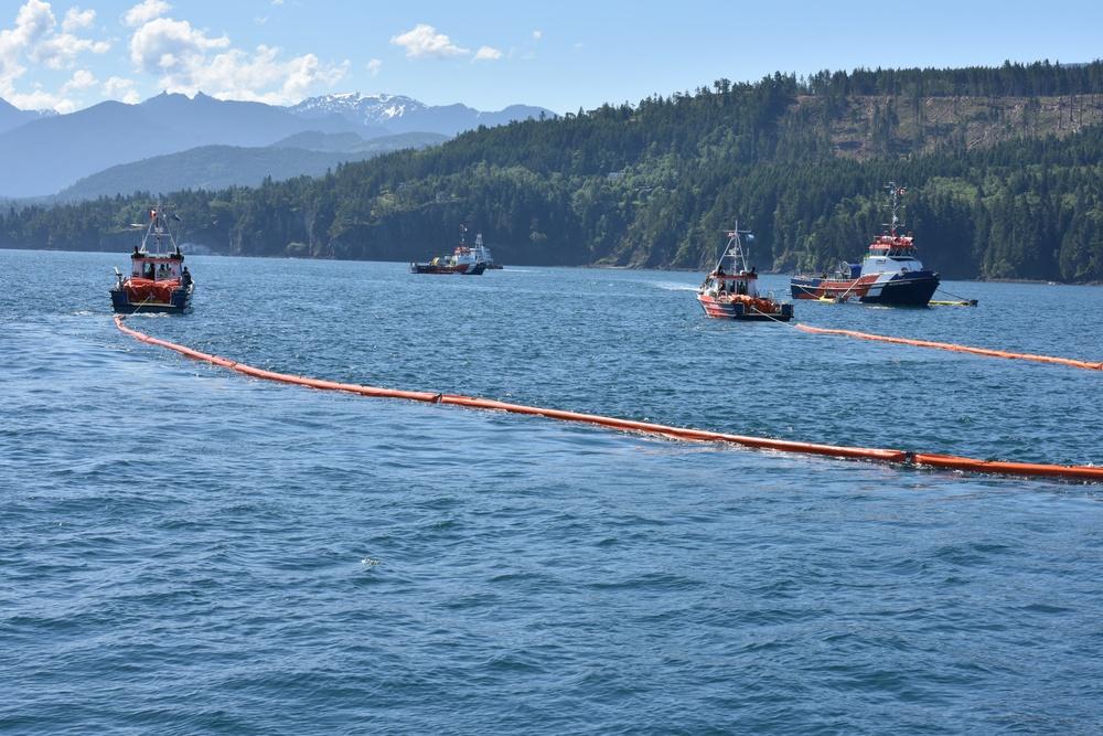 Coast Guard conducts international oil spill drill in the Strait of Juan de Fuca
