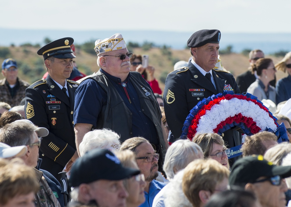 Service members and veterans are honored at Idaho State Veterans Cemetary Memorial Day Ceremony