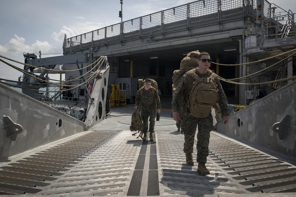 U.S. Marines disembark in Thailand