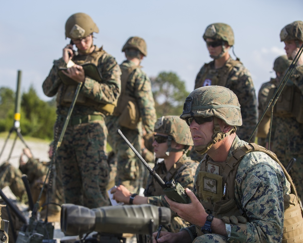 2nd ANGLICO and NATO allies conduct close air support and naval gunfire training
