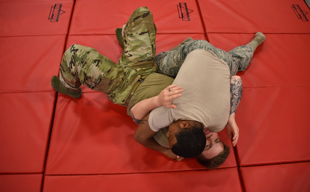 165th Airlift Wing Security Forces conducts combative training