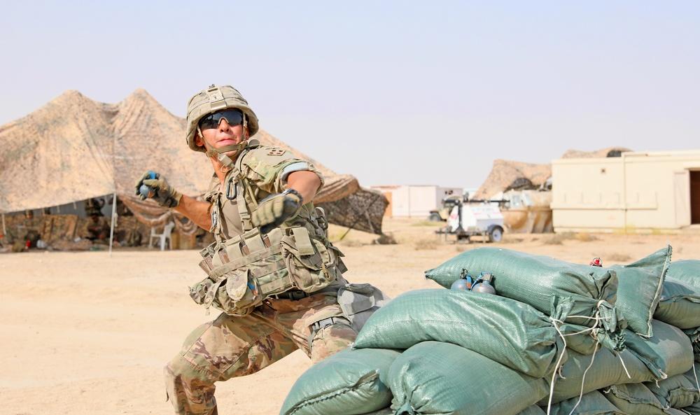 3rd Armored Brigade Combat Team Hosts Expert Infantryman Badge Testing in Kuwait
