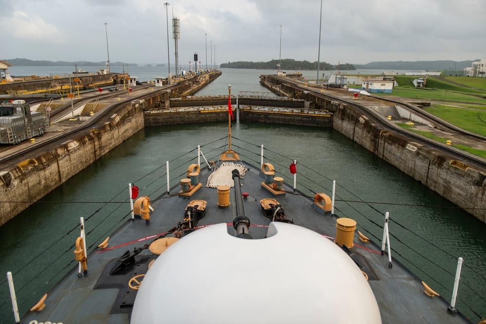 The U.S. Coast Guard Cutter Mohawk Transits the Panama Canal