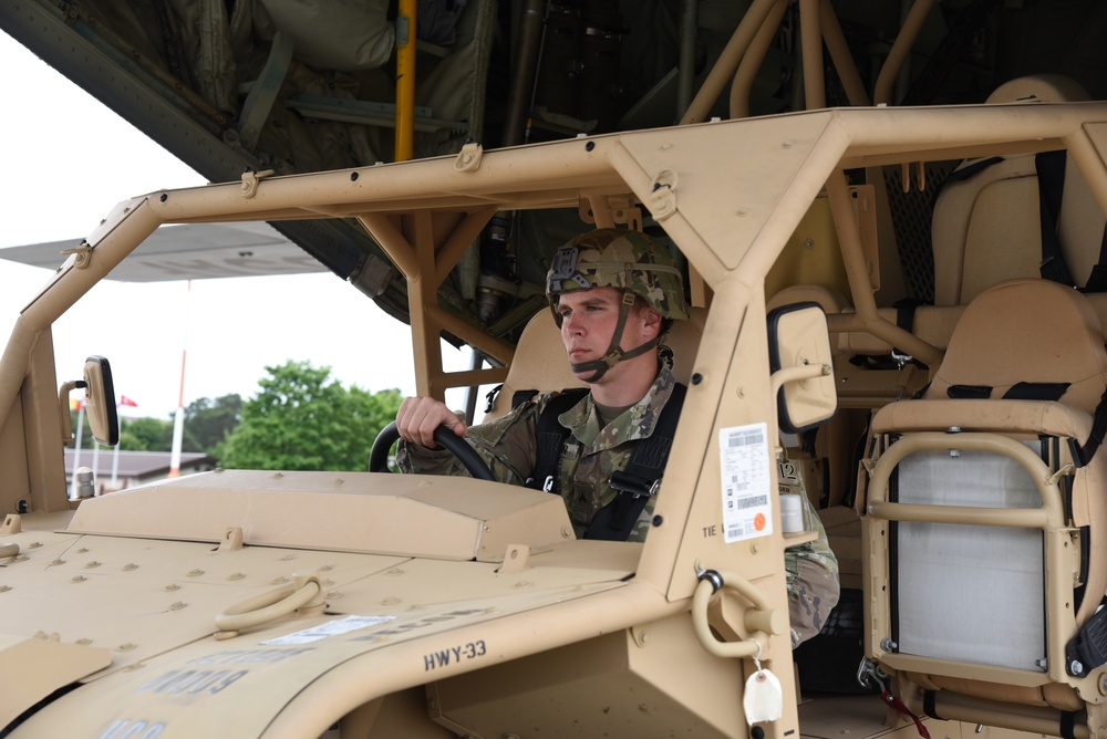 Army, Air Force Reserve work together loading C-130J
