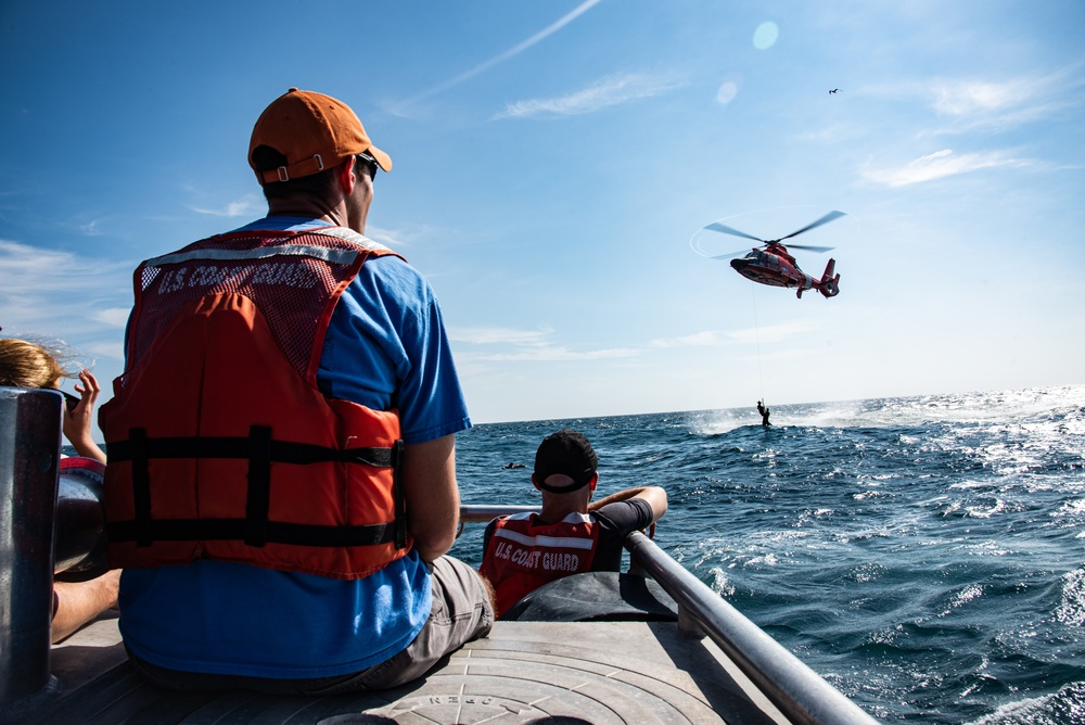 Shaw Airmen, USCG hone joint water rescue skills