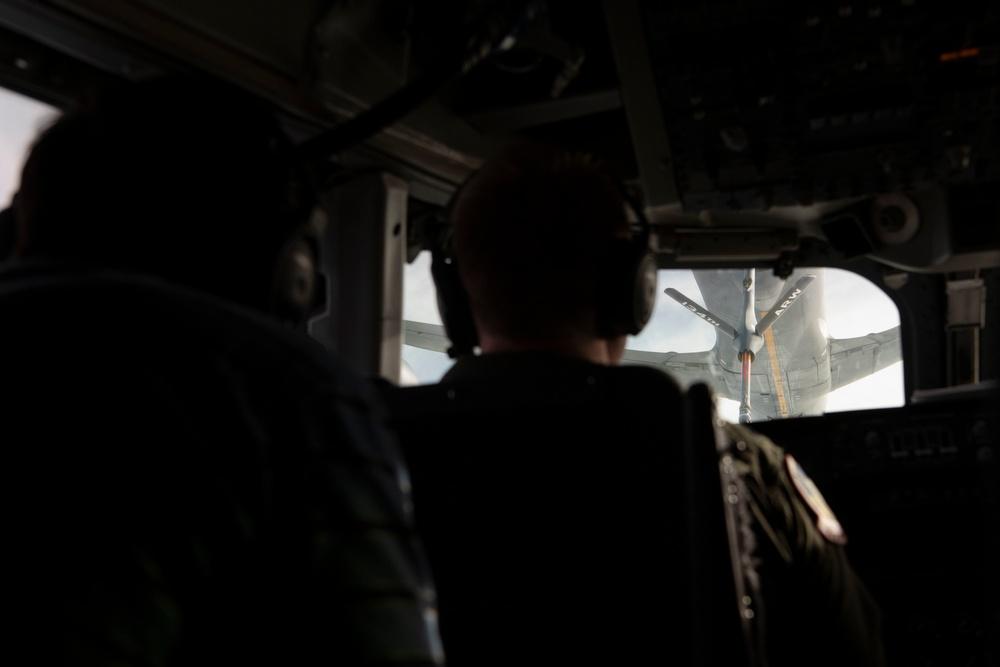Acting Secretary of Defense Observes In-Flight Refueling