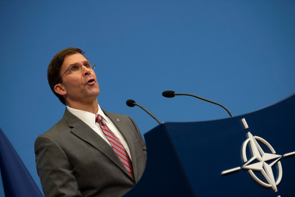 Acting Secretary of Defense Holds Press Conference at NATO Ministerial