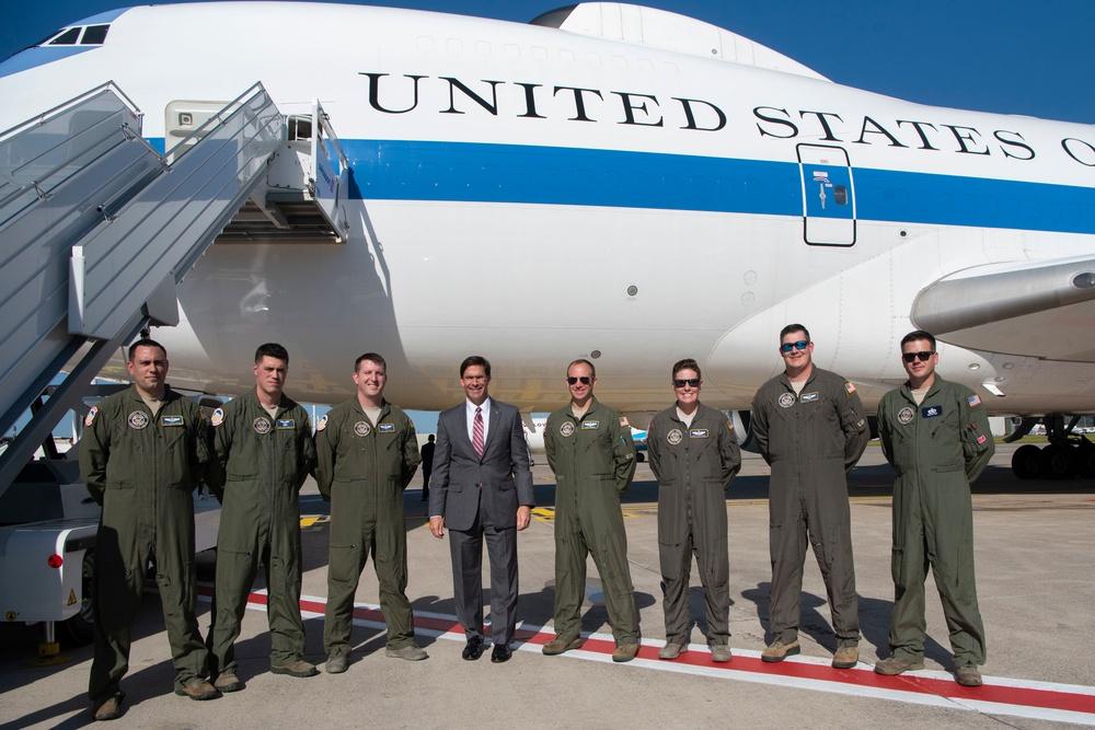 Acting Secretary of Defense Greets Air Crew Members