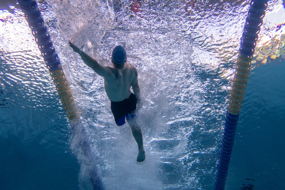 Wounded Warrior Backstroke