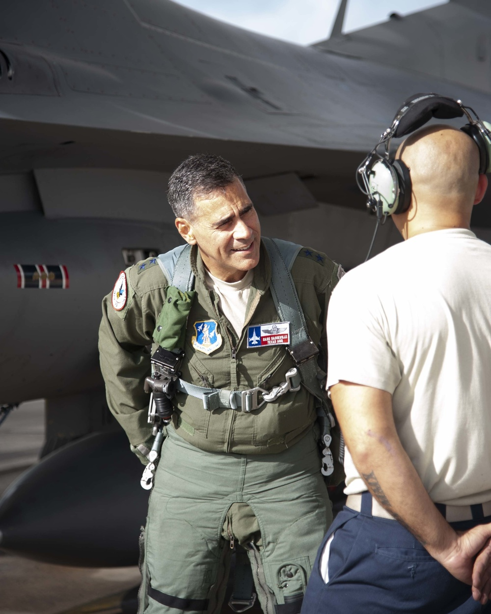 Lt. Gen. Marc H. Sasseville attends Senior Officer Course at the 149th Fighter Wing