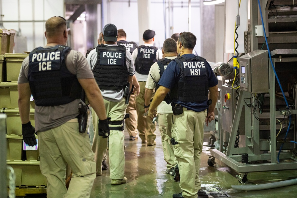 ICE worksite enforcement operation in Canton, Mississippi