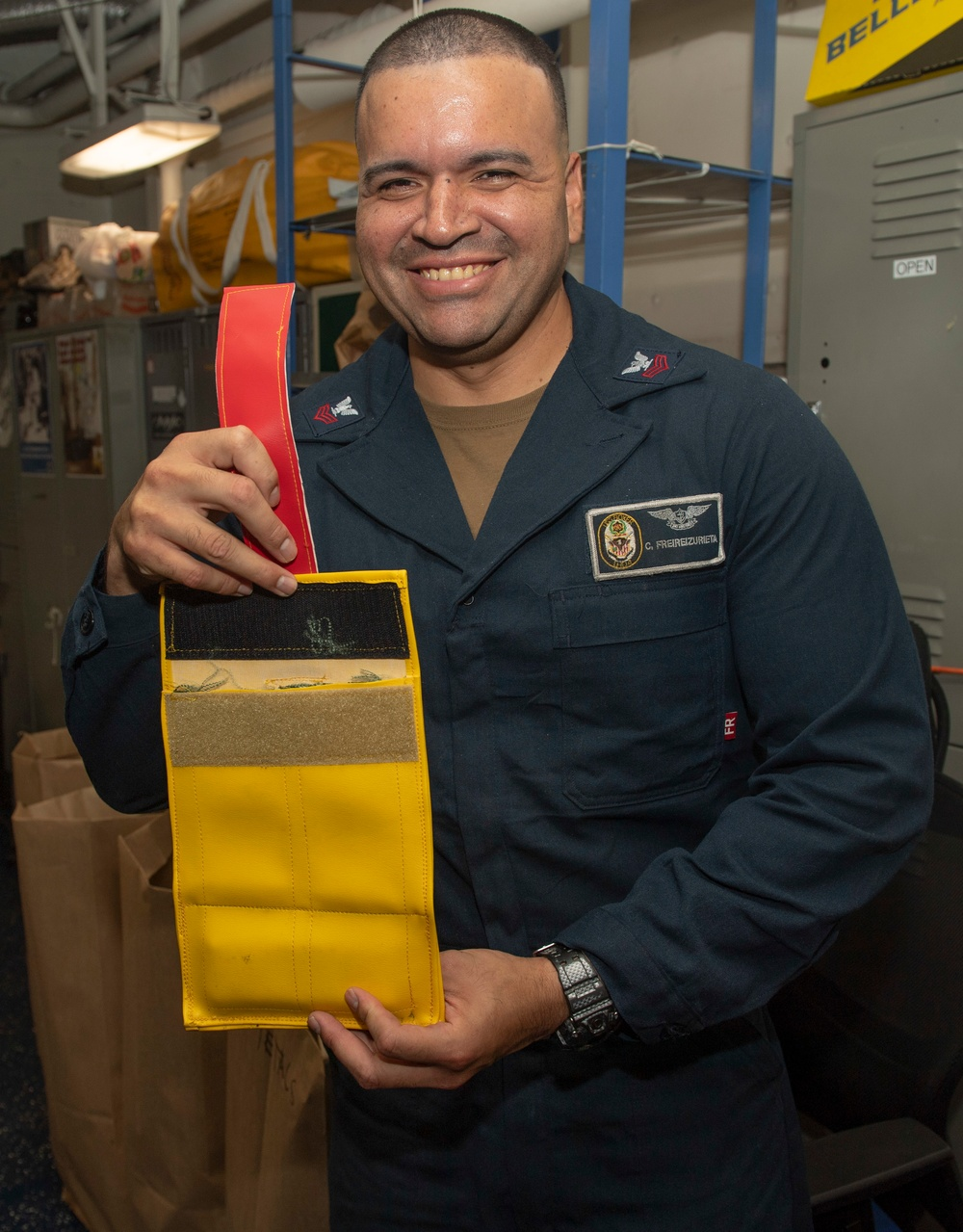 Bean Bag Message Container USS Boxer