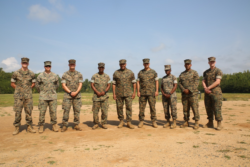 Sgt. Maj. Canley Sends Wisdom and Rounds Down Range