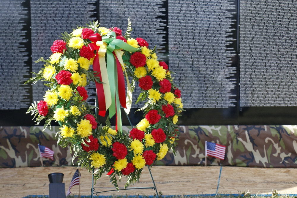 Memorial service held at Moving Wall display on Sackets Harbor Battlefield