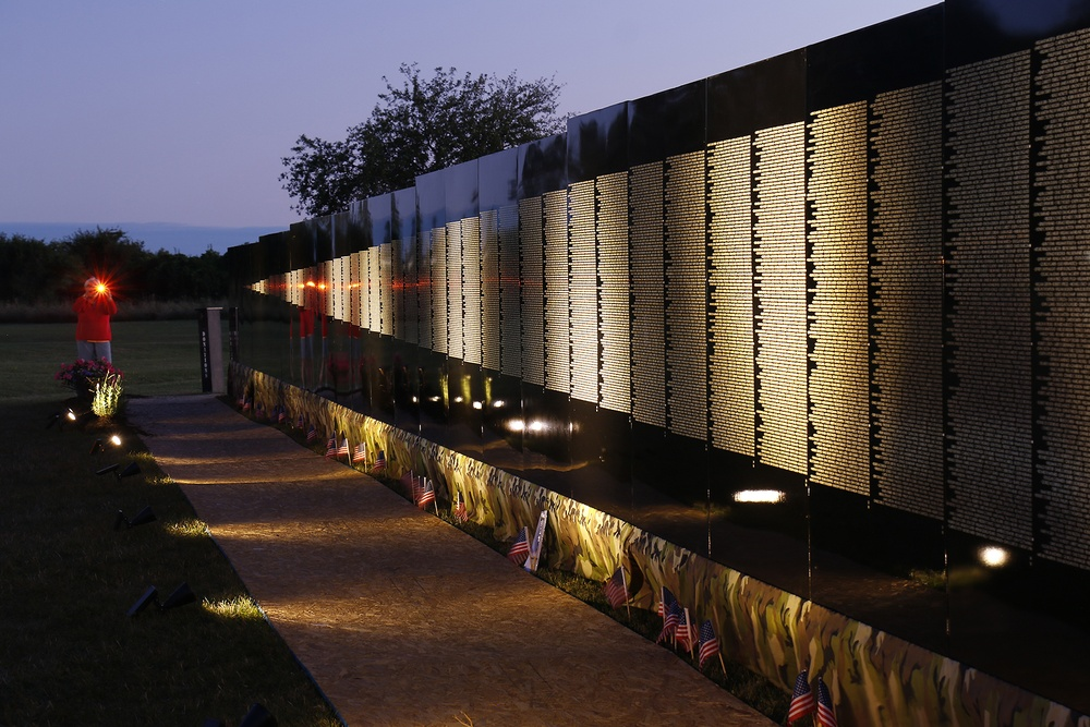 The Moving Wall from dusk to twilight