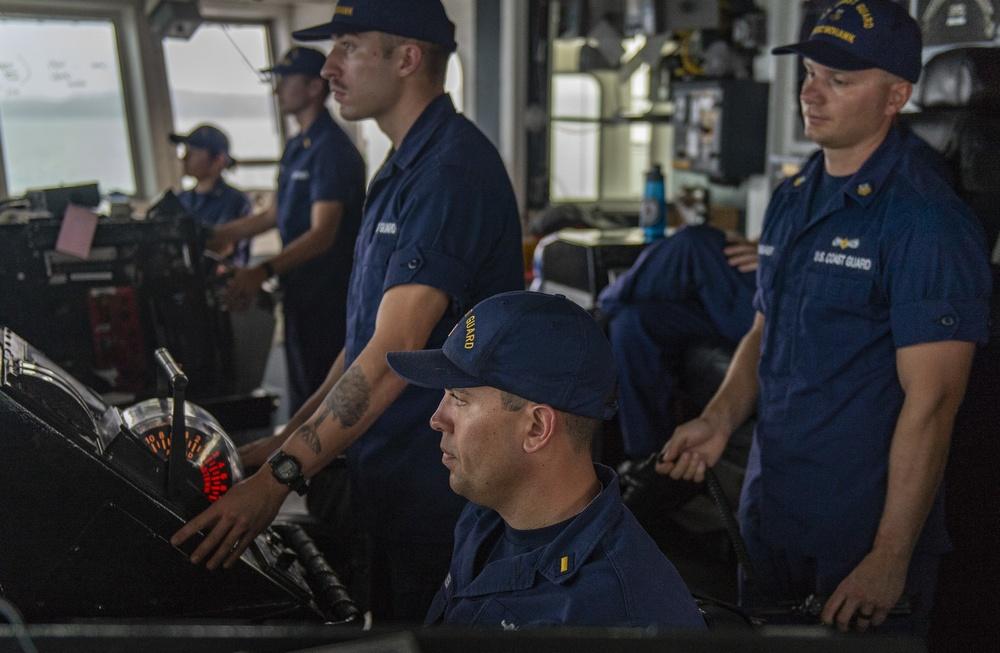 The U.S. Coast Guard Cutter Mohawk (WMEC 913) Supports Operation Martillo