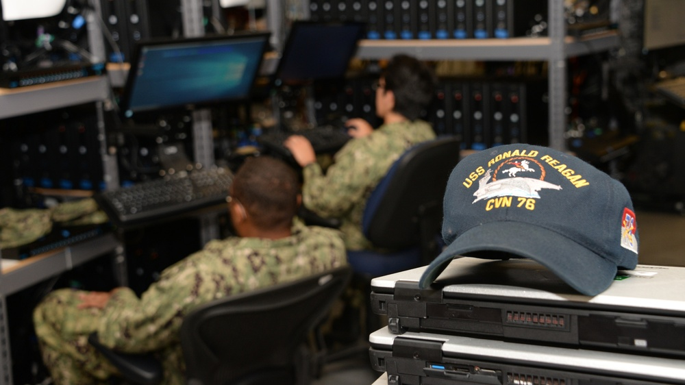 USS Ronald Reagan (CVN 76) Sailors Work with NAVWAR for Cyber Readiness