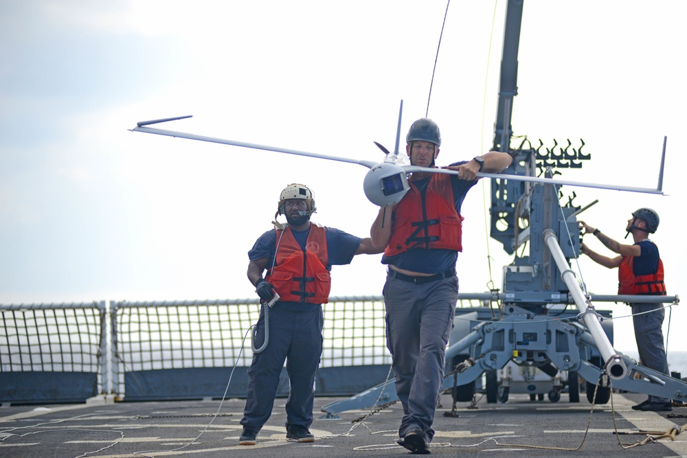Coast Guard Cutter Stratton crew conducts operations in South China Sea