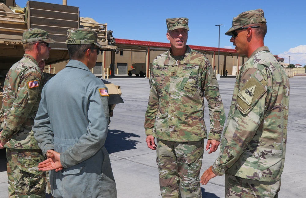 III Corps deputy commander visits Fort Bliss