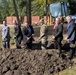 The Papio-Missouri River Natural Resources District broke ground on levee improvements for the R-613 and R-616 levee systems at Haworth Park, in Belleville, Oct. 15.