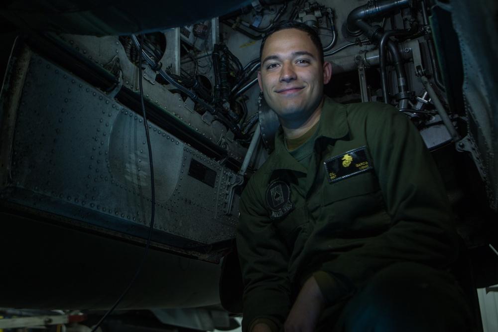 Marine Sgt. Cesar Garcia participates in Exercise Banzai Badlands