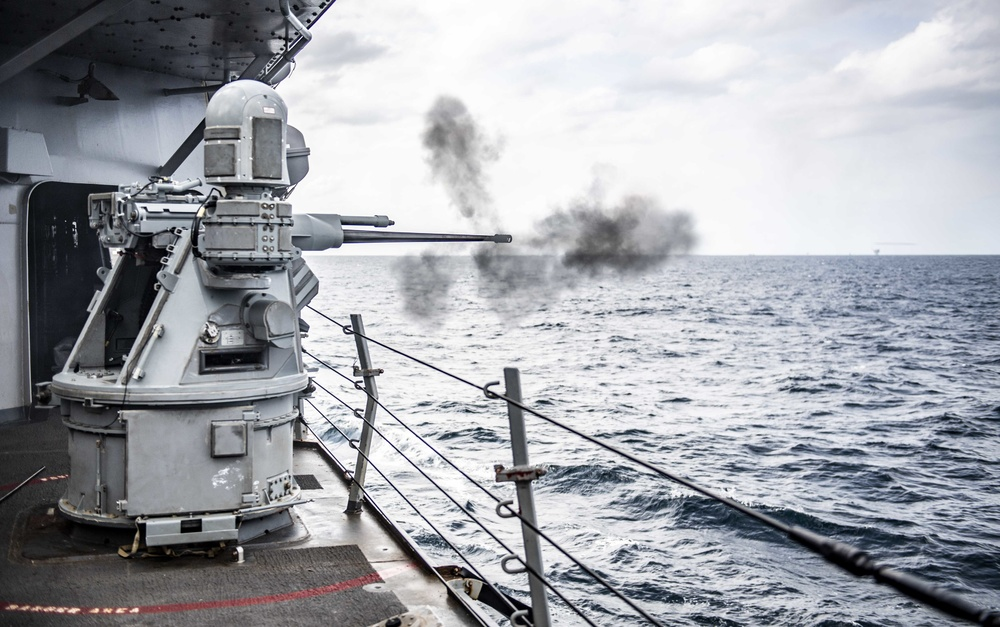 Sailors Aboard USS Milius (DDG 69) Participate in a Live-Fire Gunnery Exercise