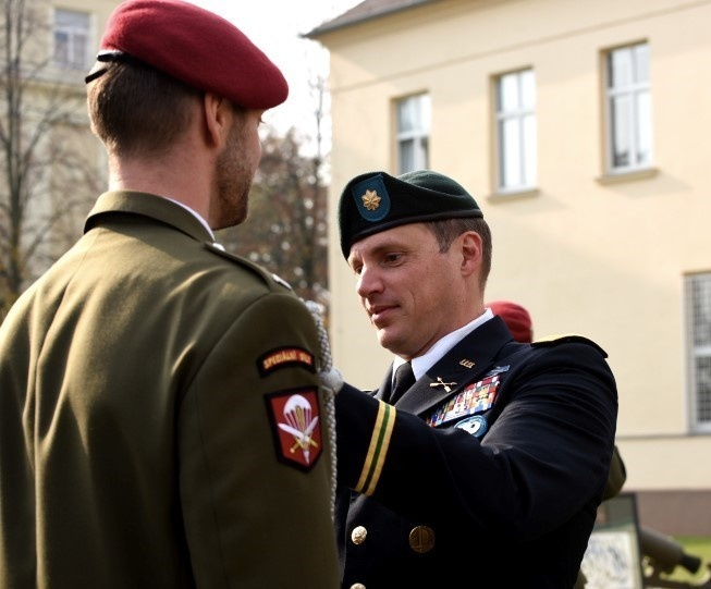 Texas Guard Special Forces Soldiers awarded Medals by the Czech Republic