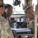 Platoon leader checks on progress