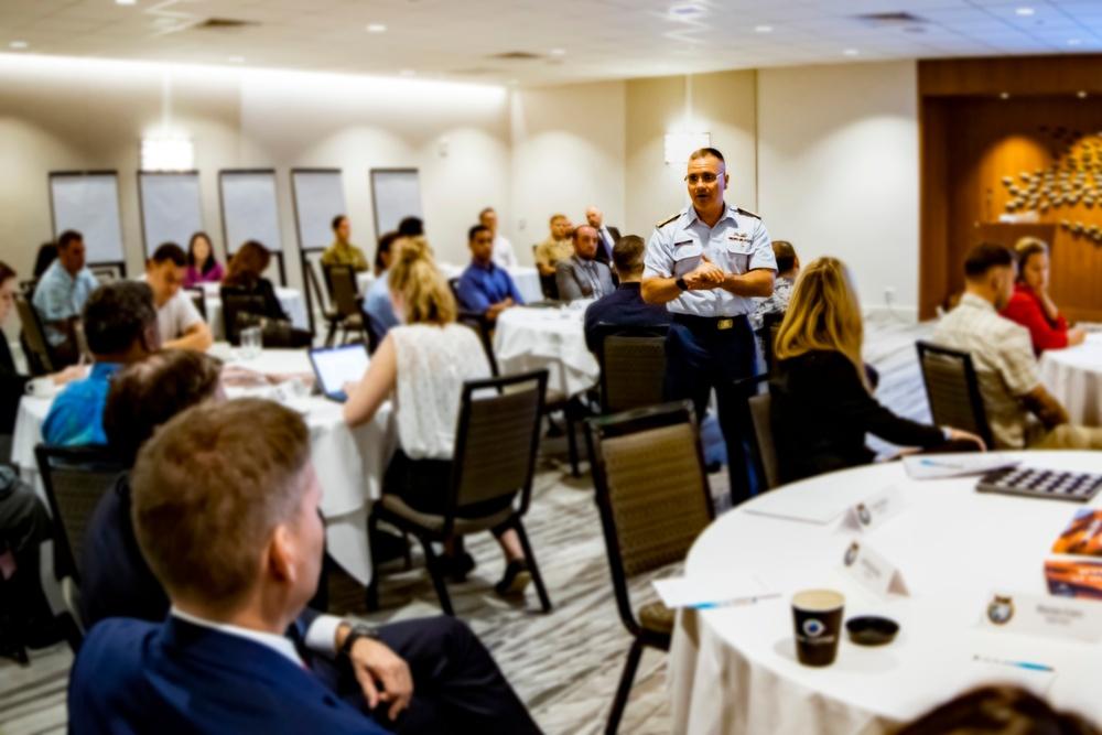 Rear Admiral Hayes Speaks at Counter Threat Finance Training Seminar