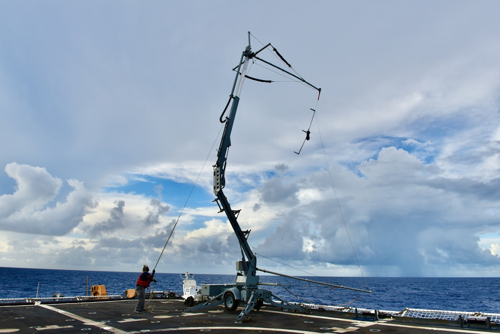 USCGC Stratton (WMSL 752) conducts Scan Eagle operations in Pacific