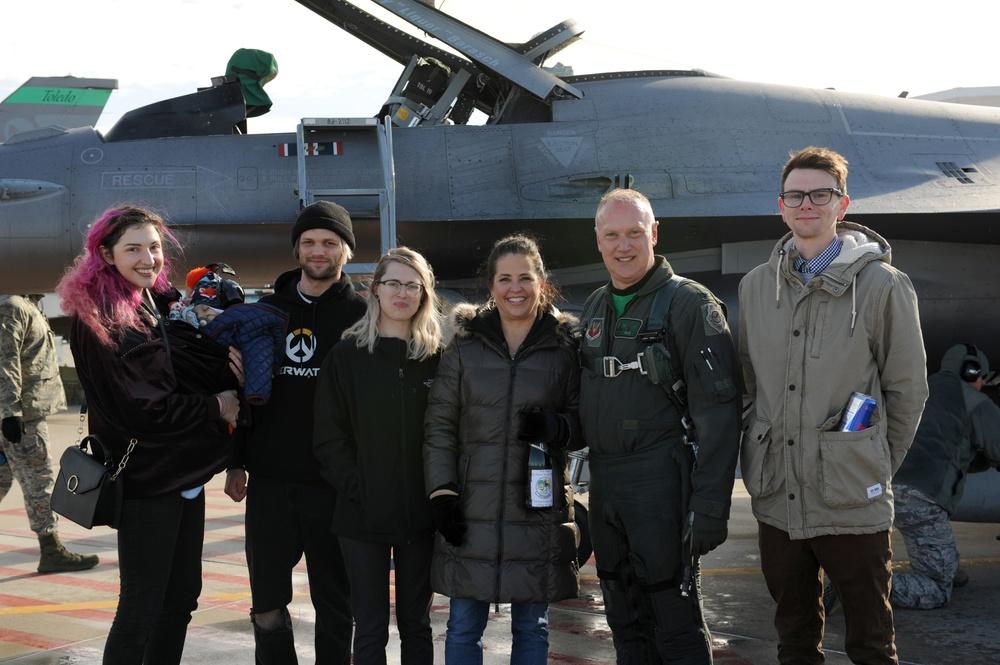 180FW Commander Celebrates Final Flight