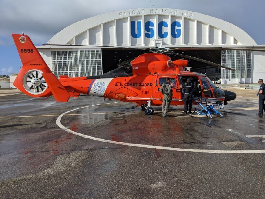 Coast Guard rescues injured man from the rocks at Domes Beach in Rincon, Puerto Rico