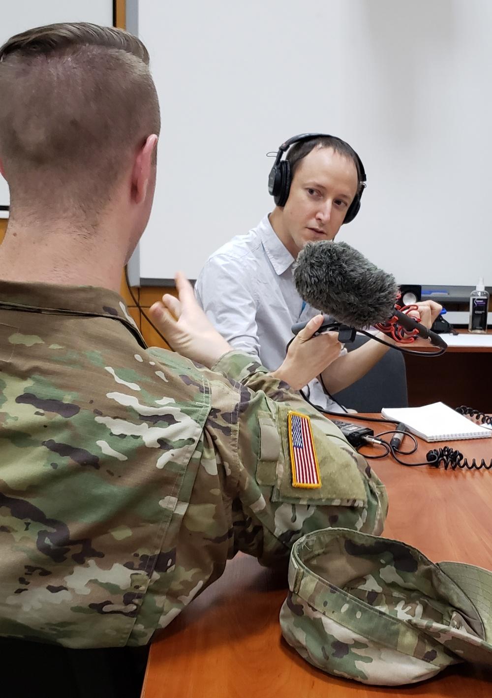 Journalists visit Joint Multinational Training Group - Ukraine