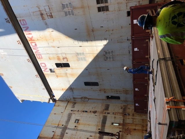 MSC Chartered Ship MV Ocean Giant Conducts Loadout, Departs Early for Support of Operation Deep Freeze 2020