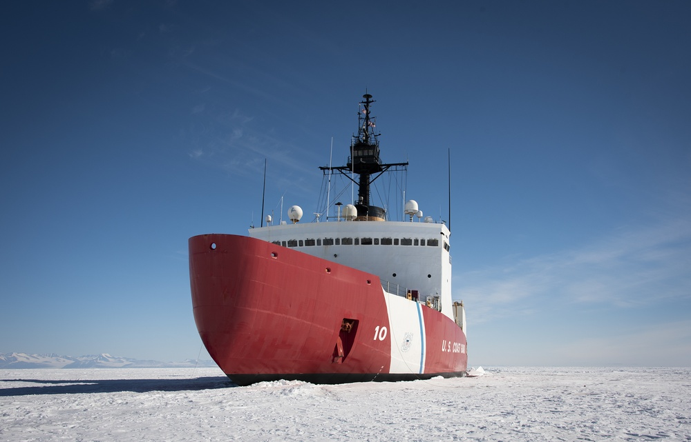 Nation's only heavy icebreaker reaches fast ice of Antarctica