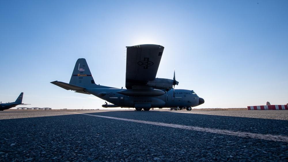 C-130 Hercules Resupply Airdrop