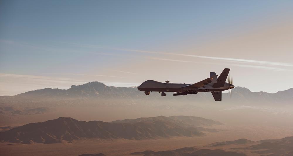 MQ-9 Reaper in flight over the NTTR