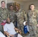 Military personnel 'salute' patients at VA medical center